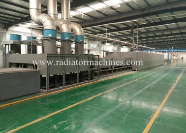 Electric & Gas Aluminium Radiator Brazing Furnace 250 * 1200 Mm High Efficiency